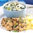 Gebakken aardappelen met kip en tonijn